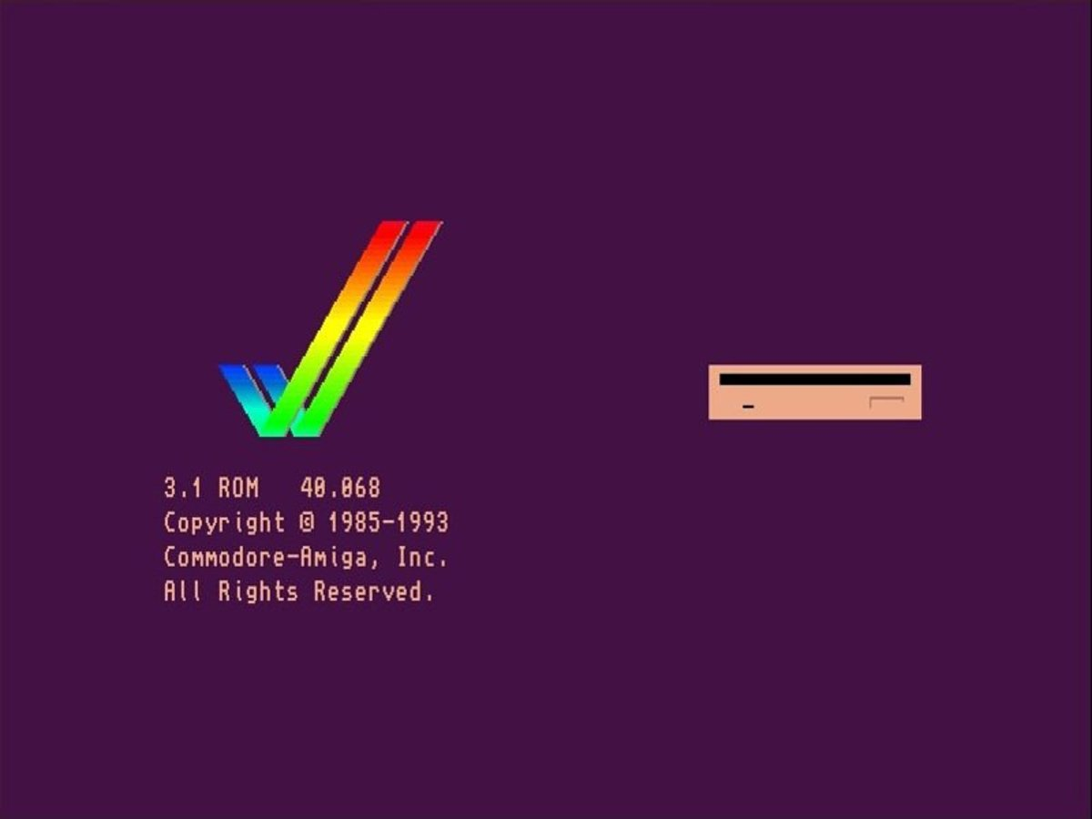 The Amiga startup screen still looks good today...