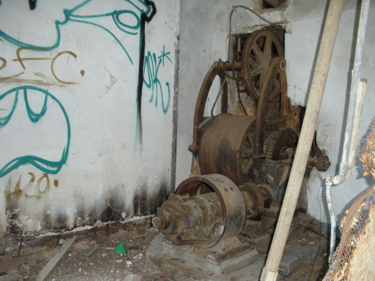 old elevator machinery