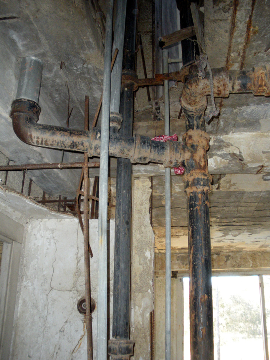 remains of plumbing