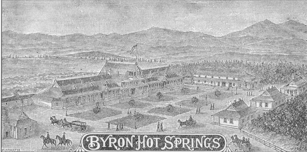 Photo of an old historical etching as the site looked in its first phase.