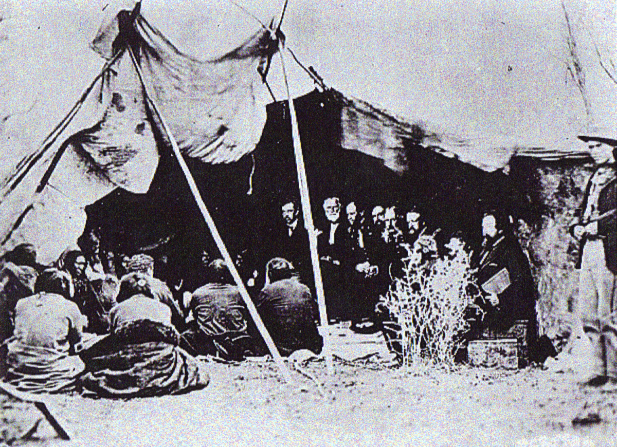 Signing of the Treaty of Fort Laramie 1868