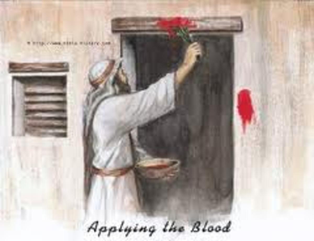 Applying the blood over doorpost
