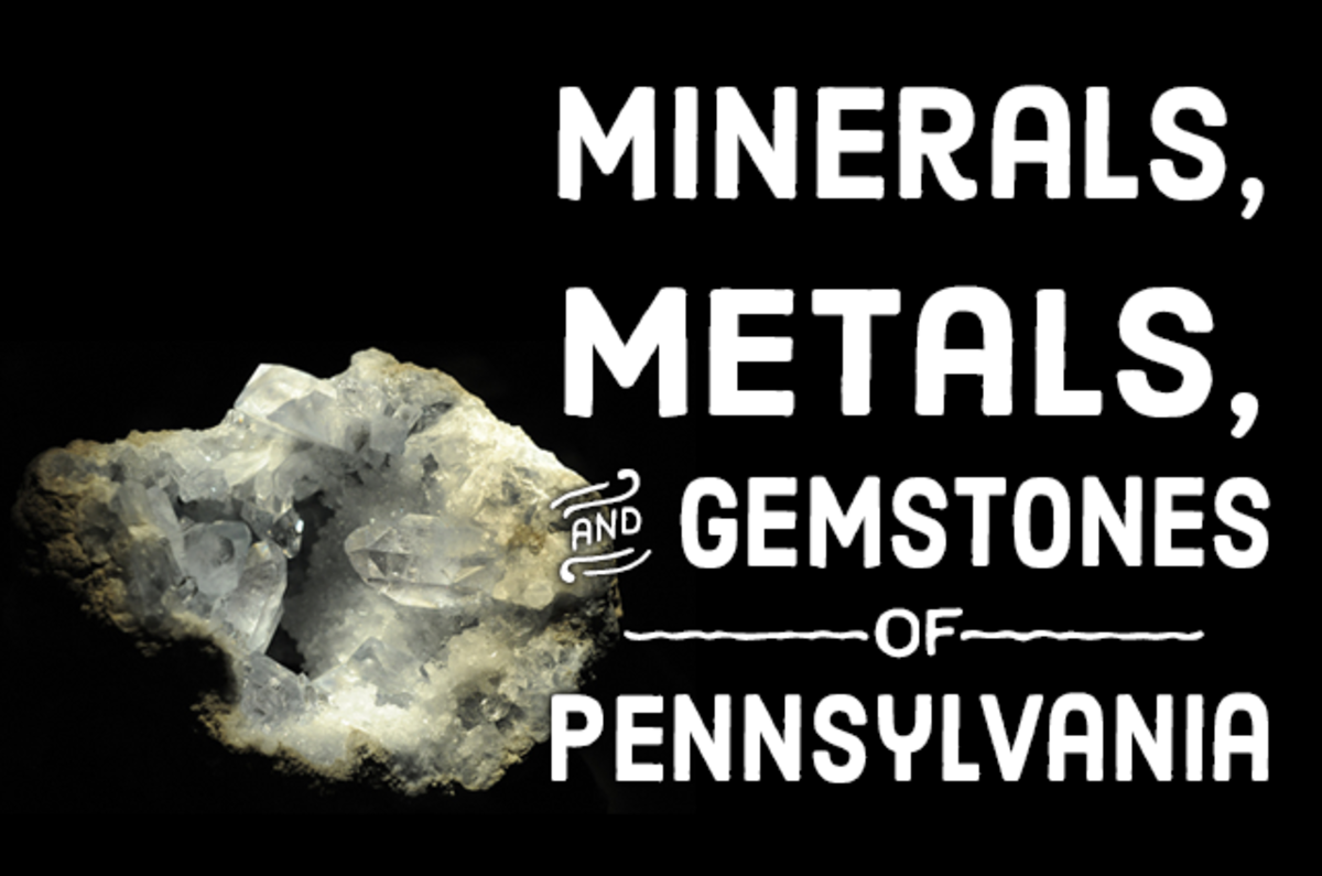 Celestine is one of many minerals, metals, and gemstones found in Pennsylvania.