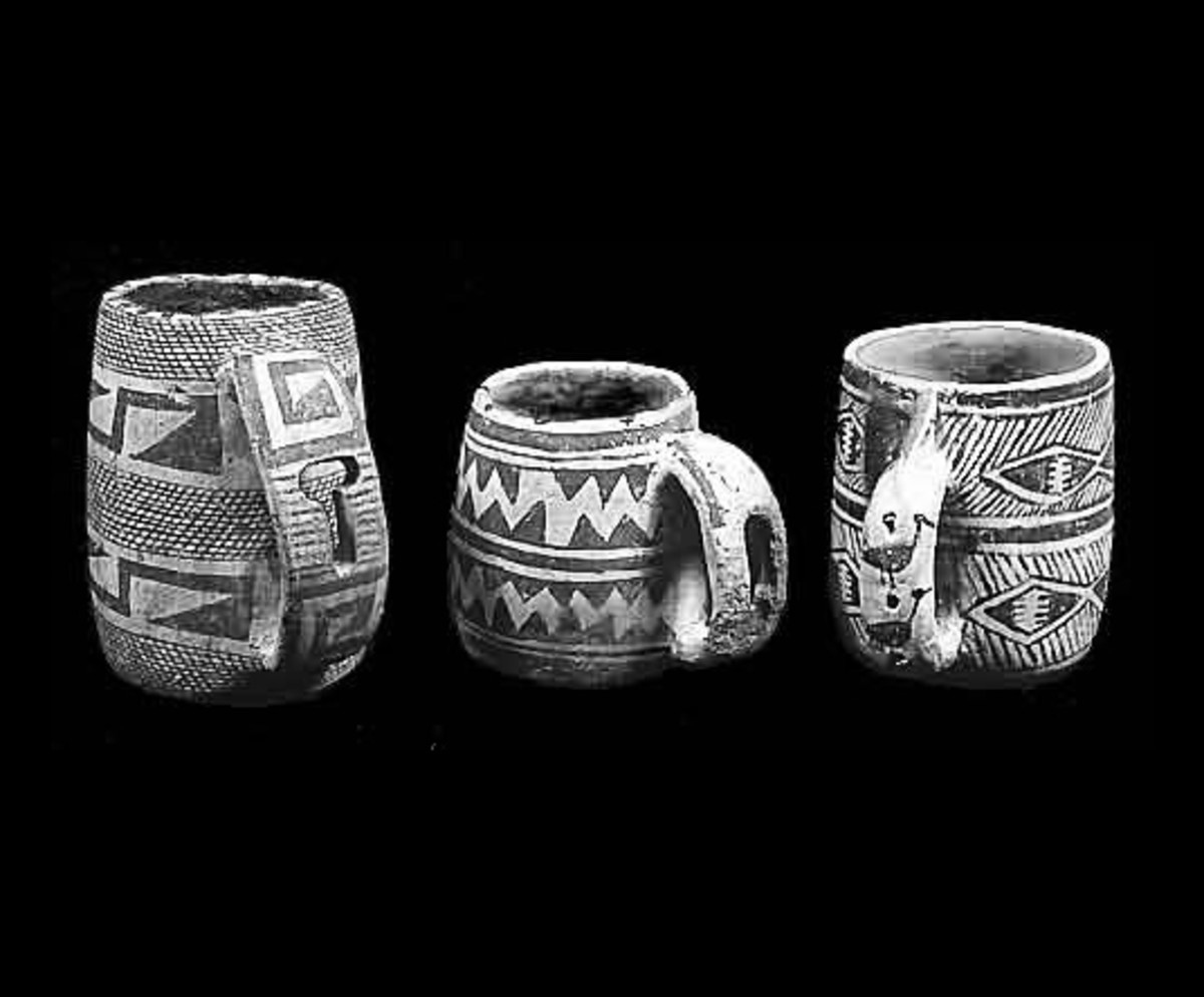Anasazi Mugs, Prehistoric mugs with handles are found only in the immediate area of the Four Corners, especially in Southwest Colorado. source Wikipedia - history of coffee mugs