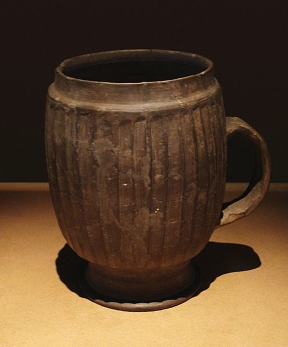 A mug made on a potter wheel in the Late Neolithic Period (ca. 2500-2000 BCE) in Zhengzhou, China. source Wikipedia - history of coffee mugs