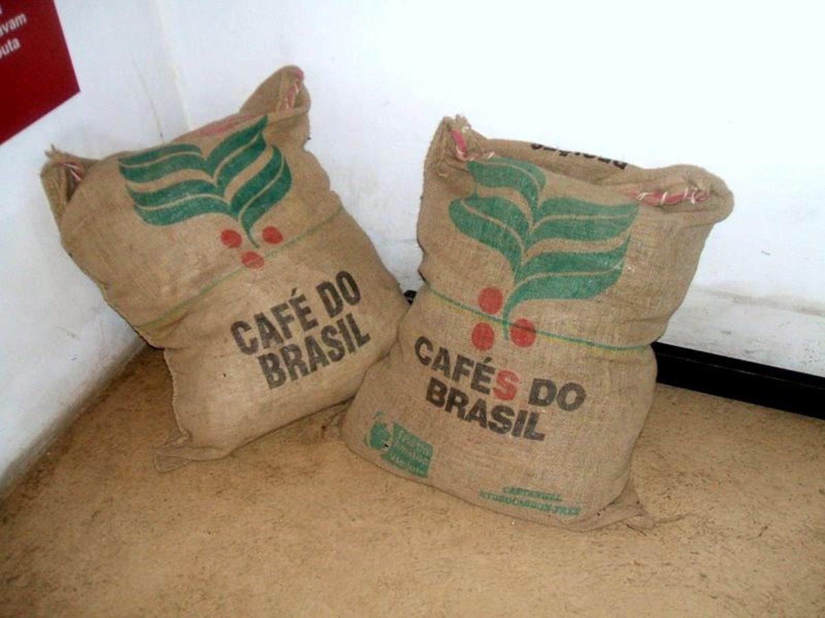 Brazilian coffee sacks. source Wikipedia - history of coffee mugs