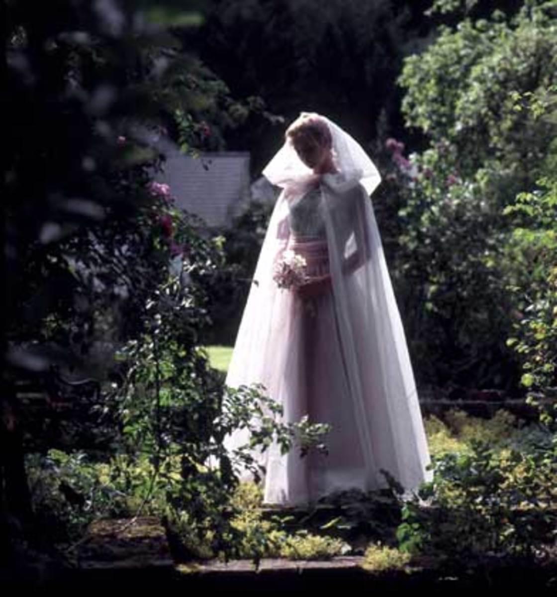 Bridal woodland elf cape