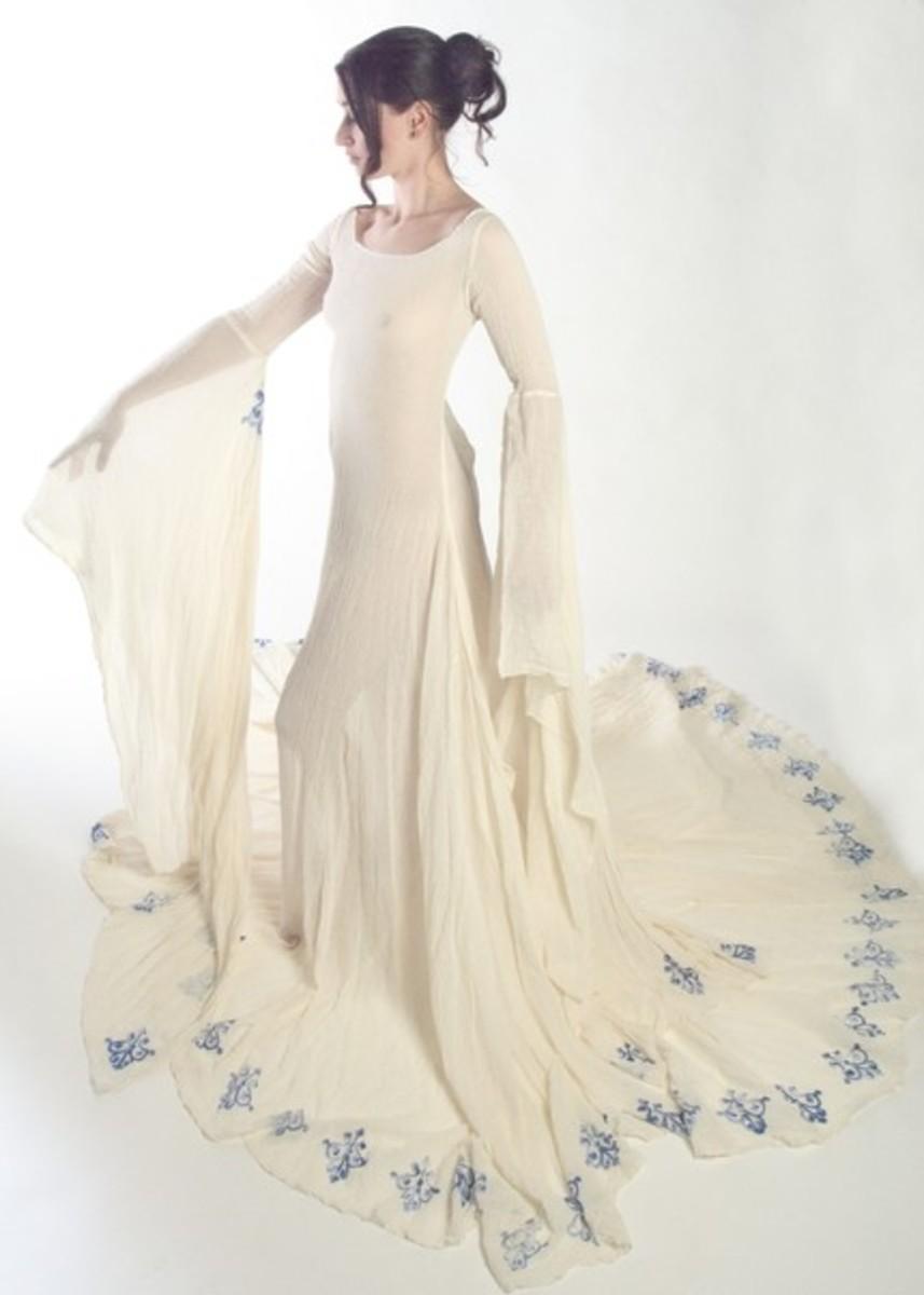 Medieval inspired wedding dress,