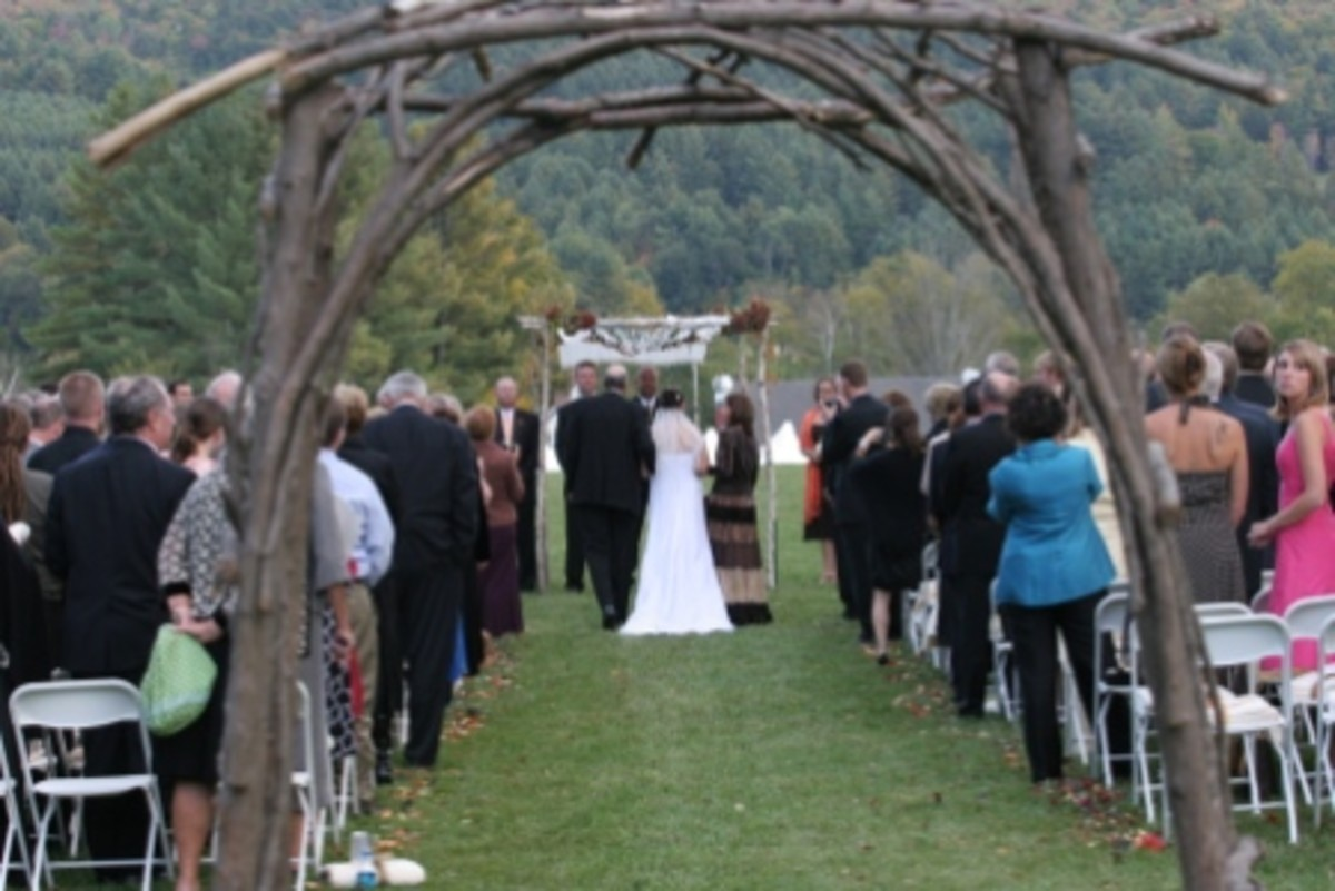 Grapevine branches and archways are a great added touch to any outdoor wedding.