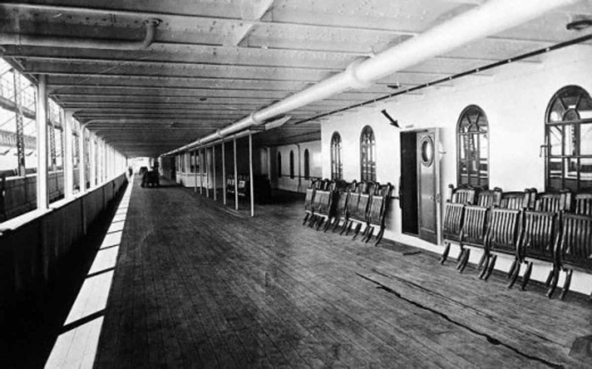 The deck of the Titanic
