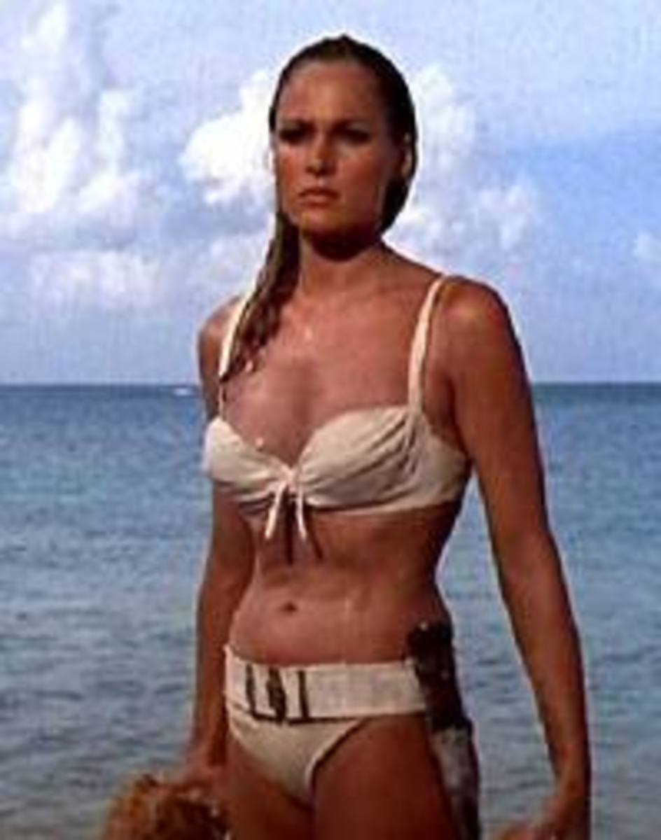 Ursula Andress as the first Bond Girl in the James Bond films