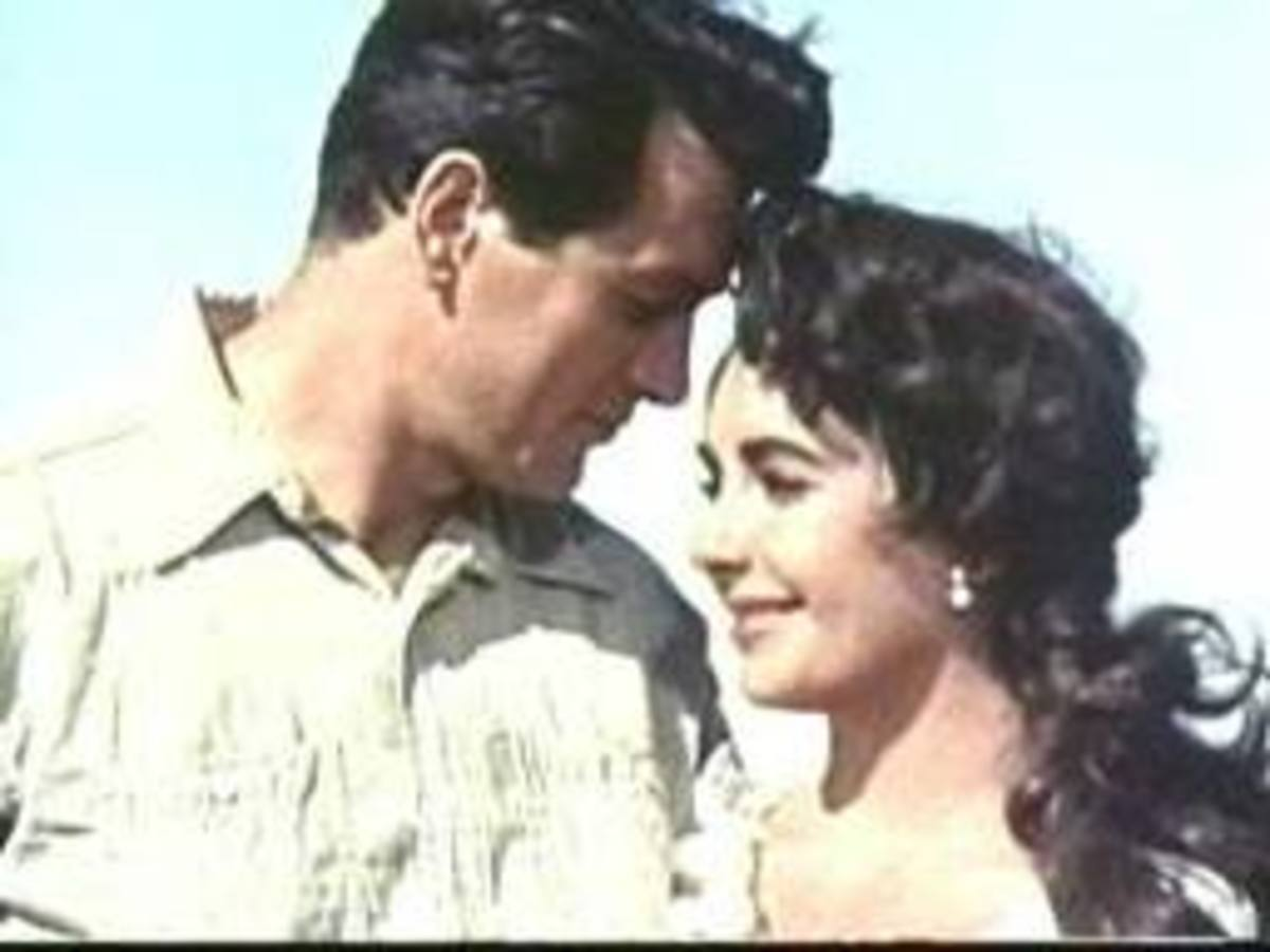 Rock Hudson and Elizabeth Taylor