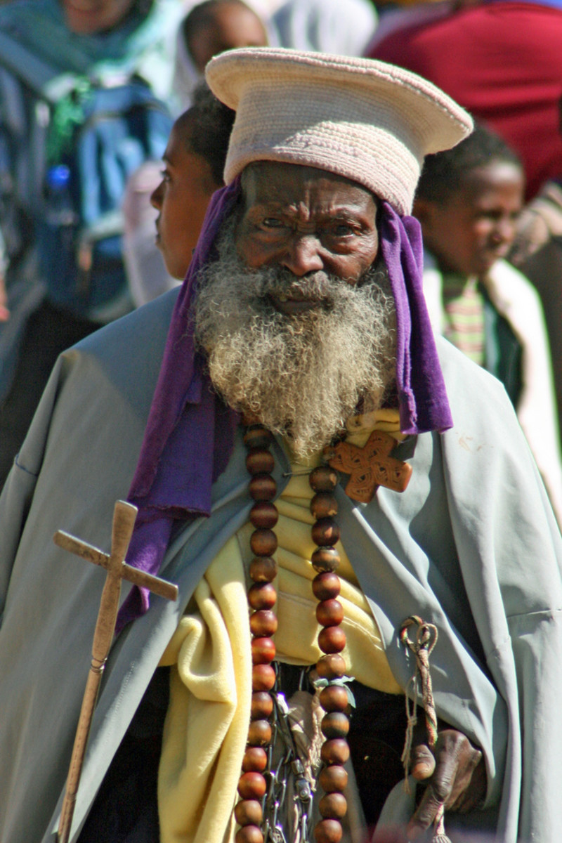 An Ethiopian Orthodox priest
