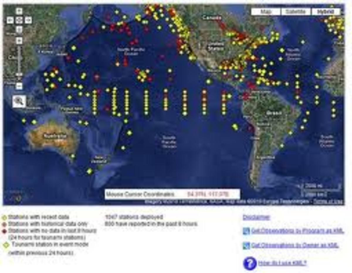 this is tracking of the tsunami wave from the bouys located around the area