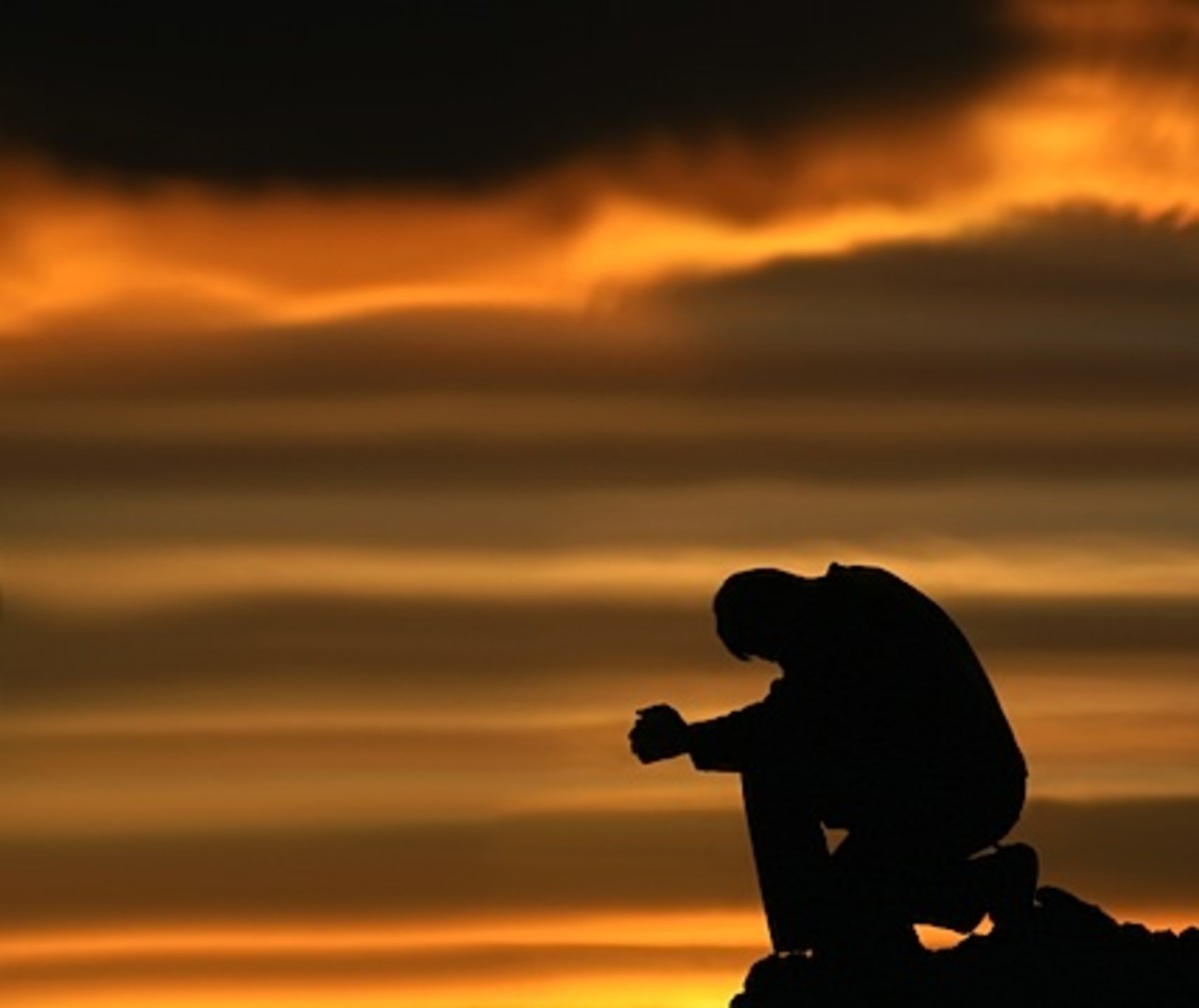 He Prays at dusk and dawn
