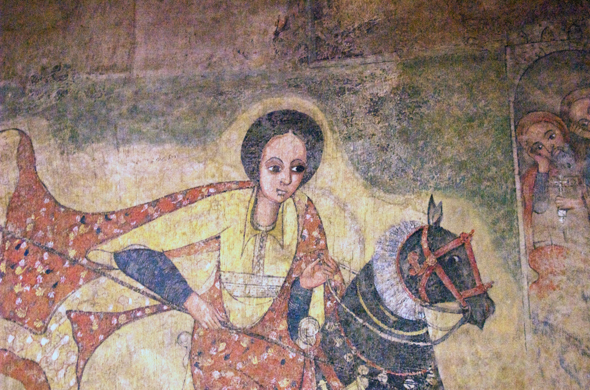 Wall painting of the Queen of Sheba