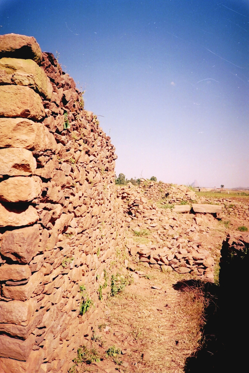 Ruins of the Queen of Sheba's palace in Axum, Ethiopia