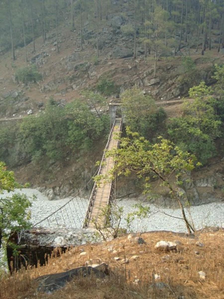A bridge on river tons