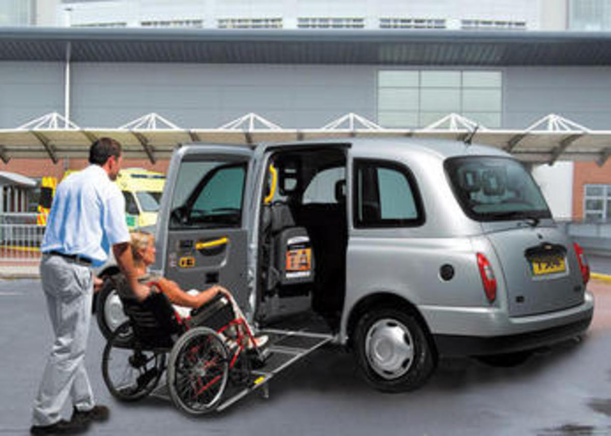 taxi with wheelchair ramp