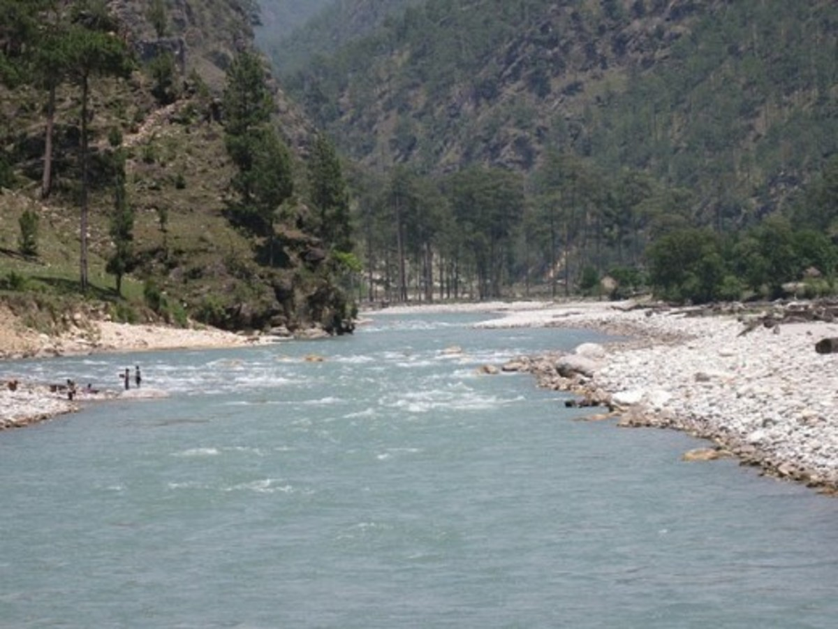 Photograph of River Tons in Uttaranchal - Quiet Tons river will meet inside Yamuna river.