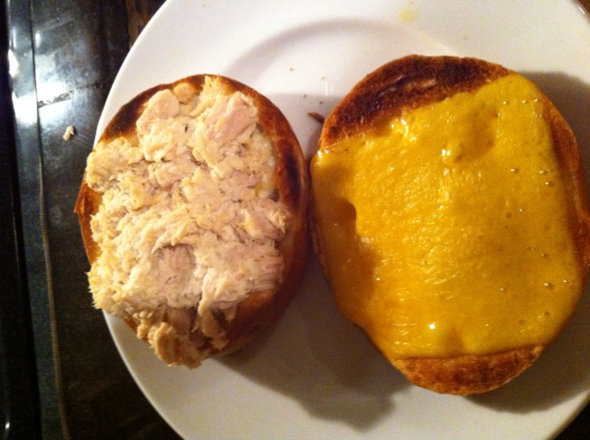 cheese and tuna melted from oven broiler