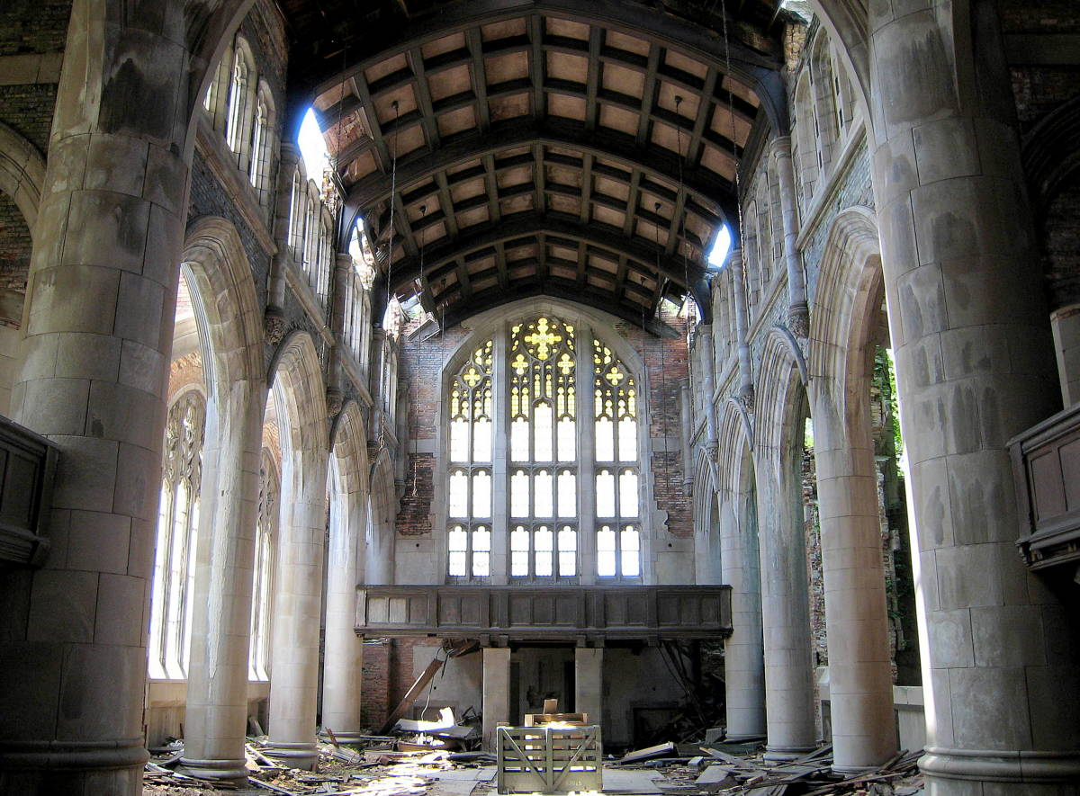 City Methodist Church. main hall, Gary, Indiana, by Peter Fitzgerald
