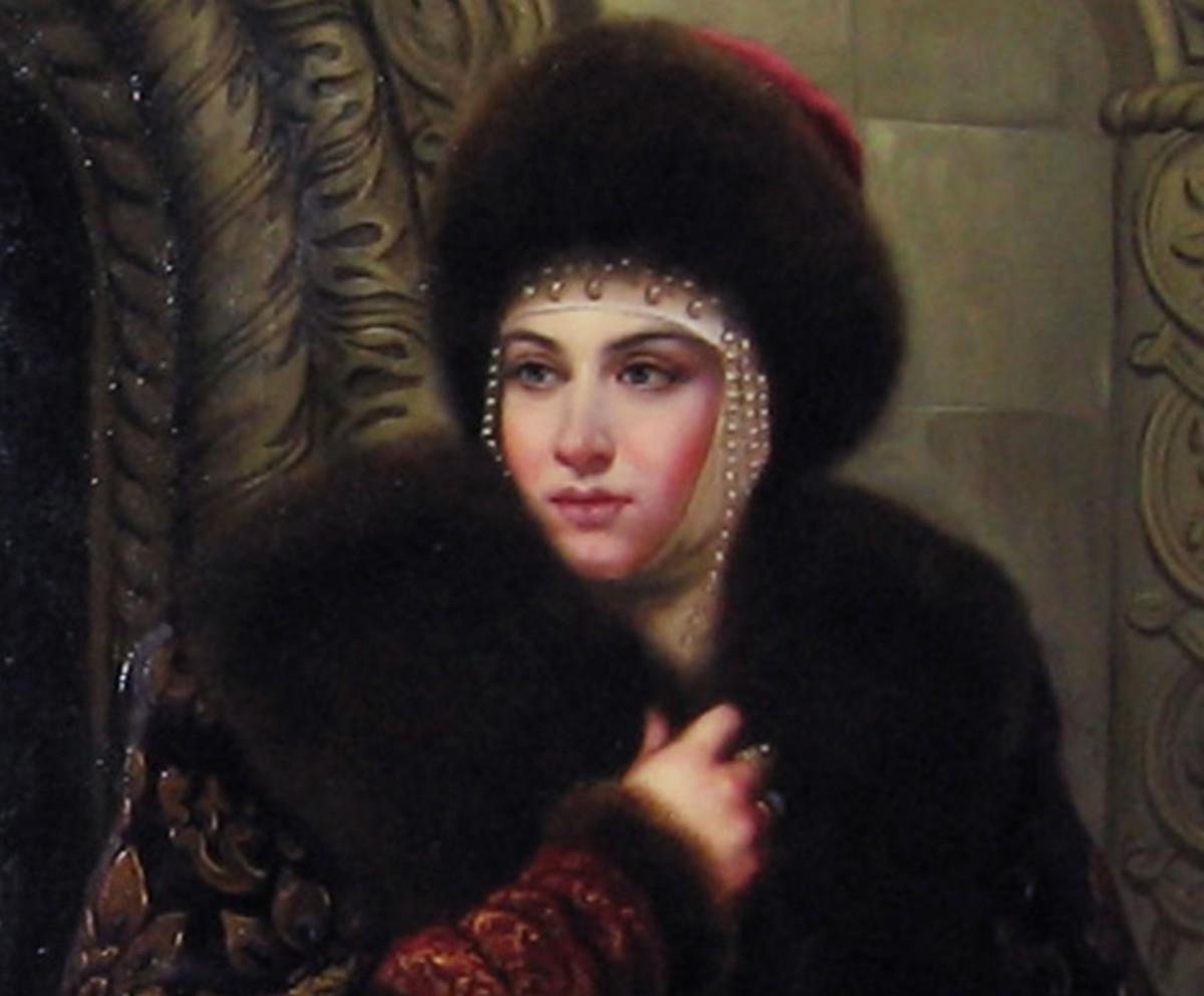 A disputed portrait of Ivan's second wife, Maria Temryukovna.