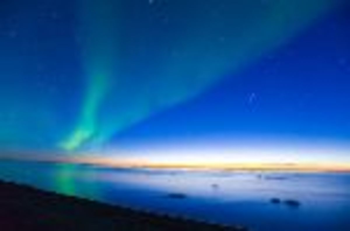 Solar Flares emanating off of the surface of the sun, closer to the earths magnetic poles result in beautiful displays of light we call aurora borealis or northern lights.