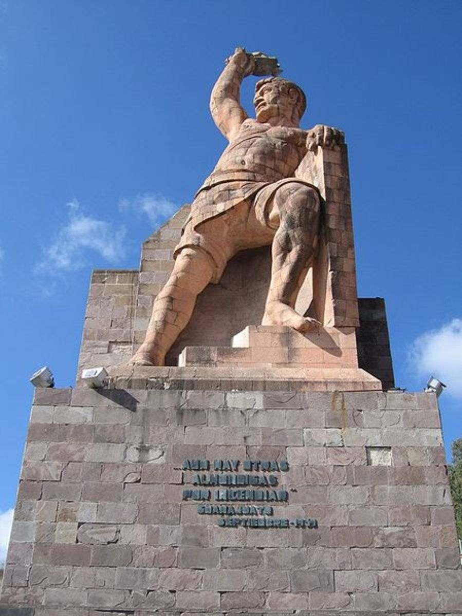 El Pipila - Tribute to the silver miners of Guanajuato