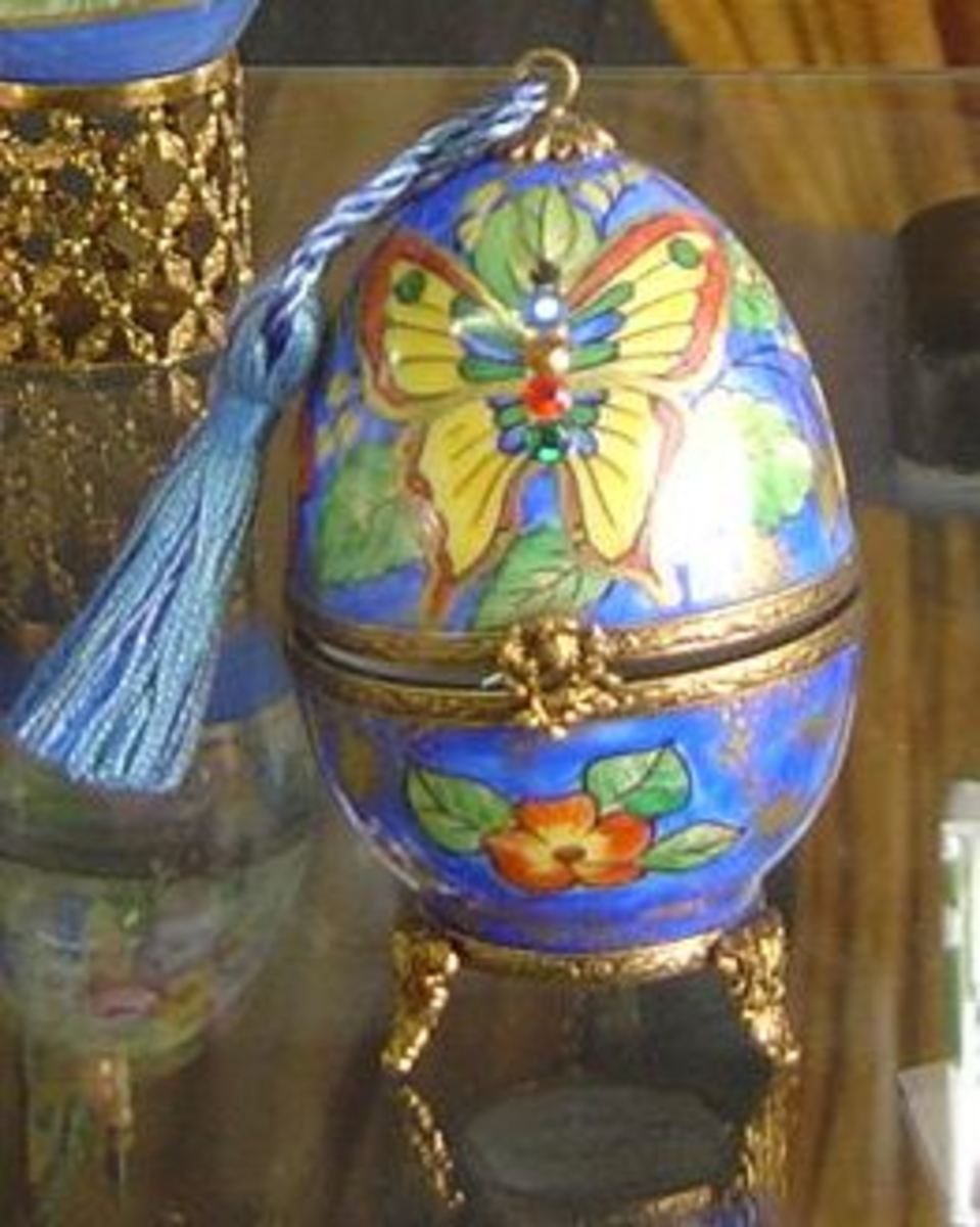 Limoges Porcelain Eggs for Easter