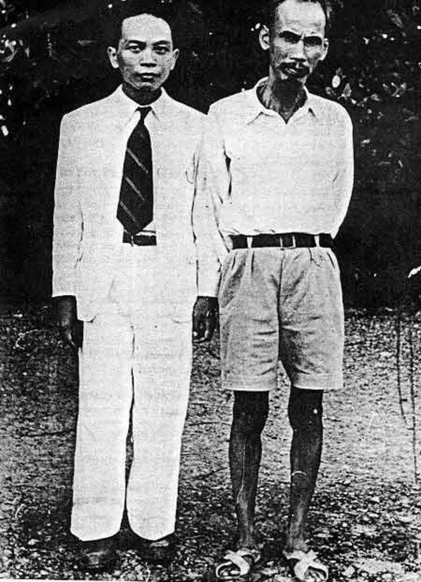 COMMUNIST GENERAL VO NGUYEN GIAP WITH HO CHI MINH