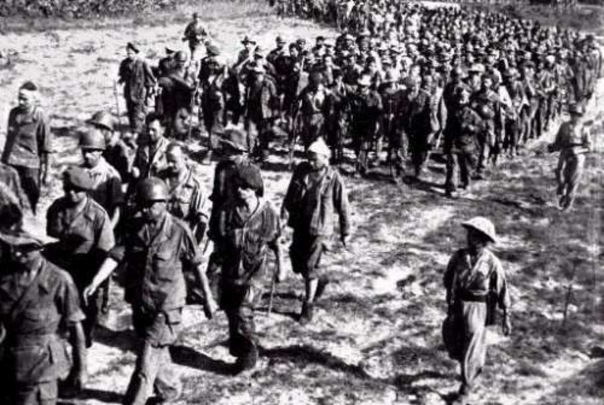 FRENCH SOLDIERS SURRENDER AT DIEN BIEN PHU