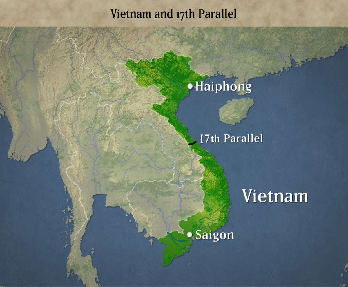 THE 17TH PARALLEL DIVIDED NORTH & SOUTH VIETNAM