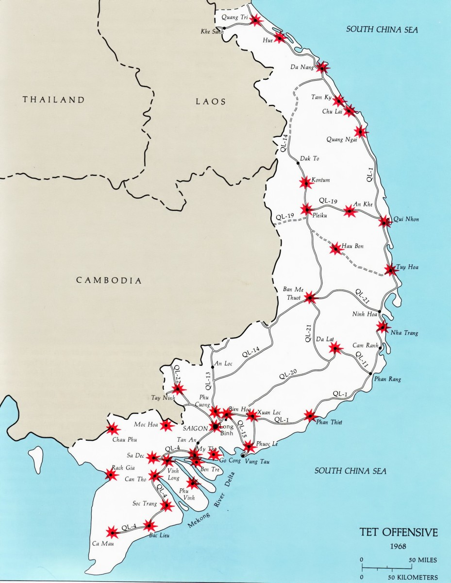 ATTACKS BY COMMUNISTS ON FREE TOWNS OF SOUTH VIETNAM DURING THE TET OFFENSIVE