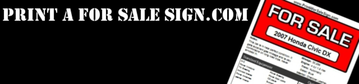Free Printable Car For Sale Sign – Car for Sale Signs Printable