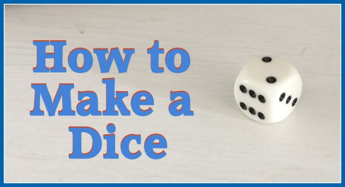 How to make a dice if you don't have one to hand.