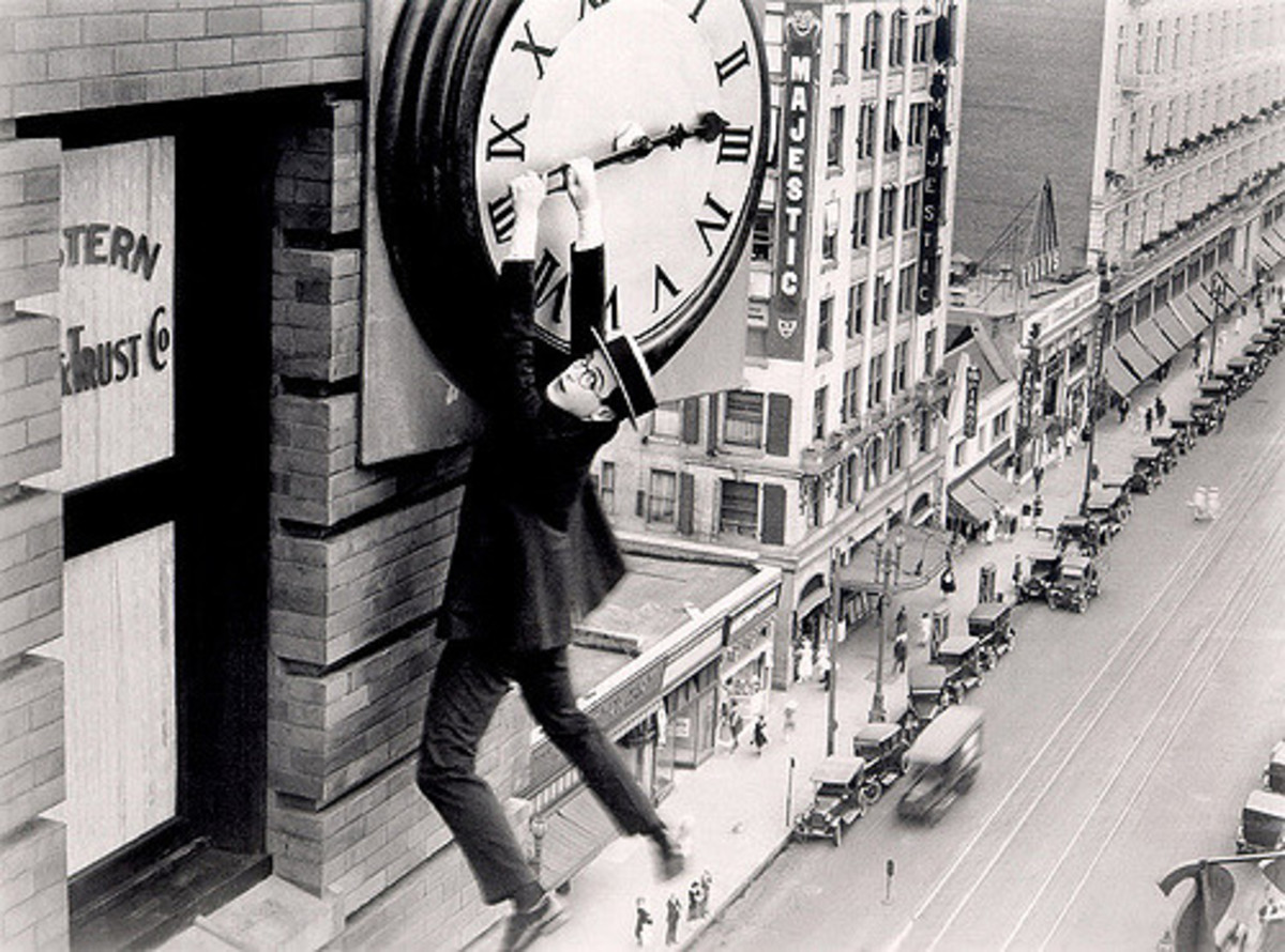 "Harold Lloyd (1893-1971) in ""Safety Last!"", 1923"