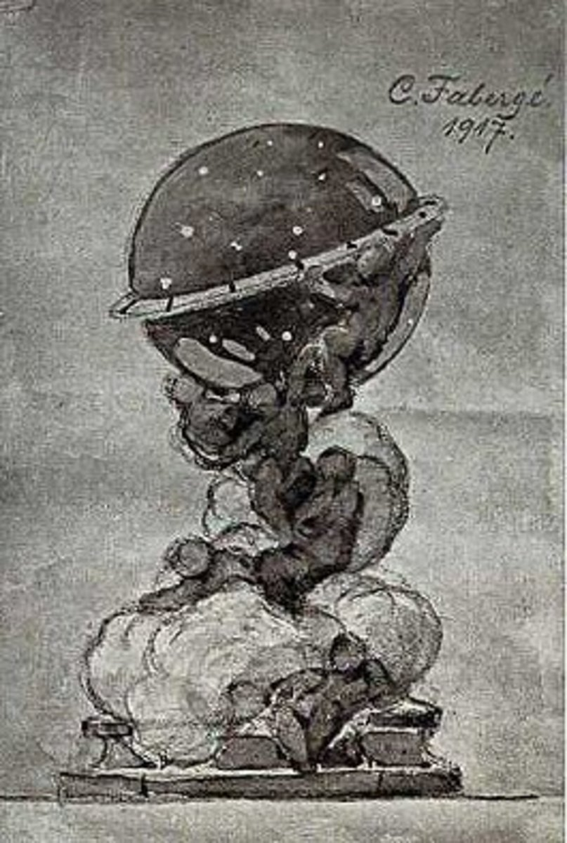 Carl Faberge's design sketch for the unfinished egg