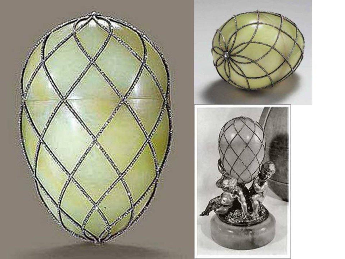 Diamond Trellis Egg -1892