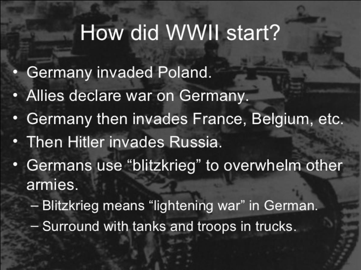 How World War II began.