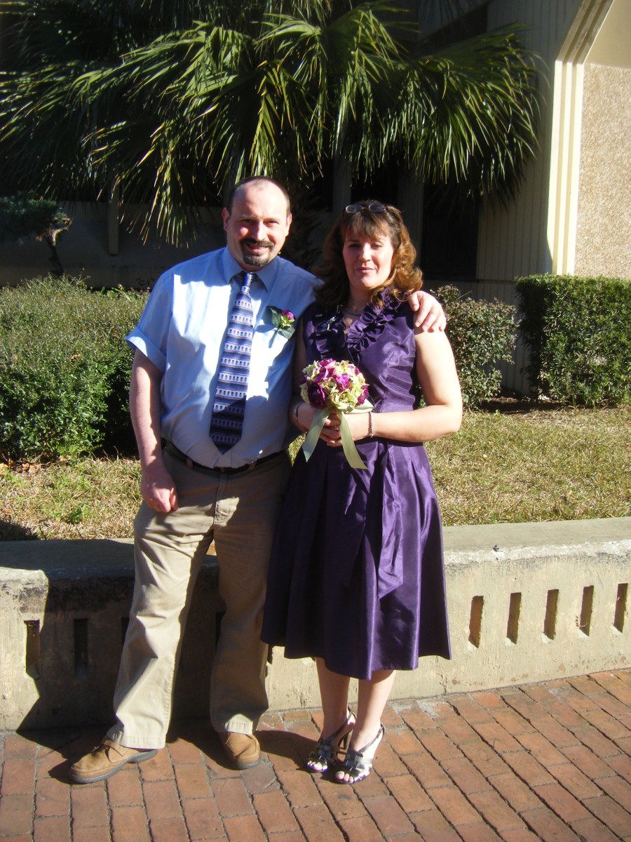 With Abby on our wedding day