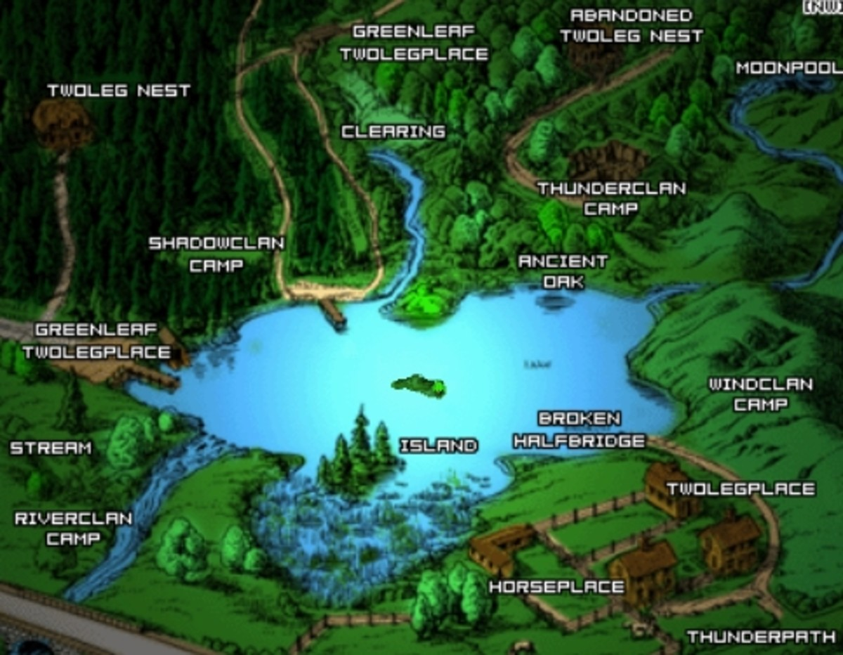 Map showing WindClan territory