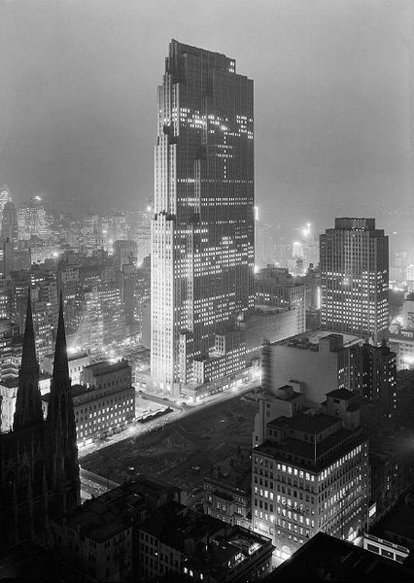 Rockefeller Center on December 5, 1933.