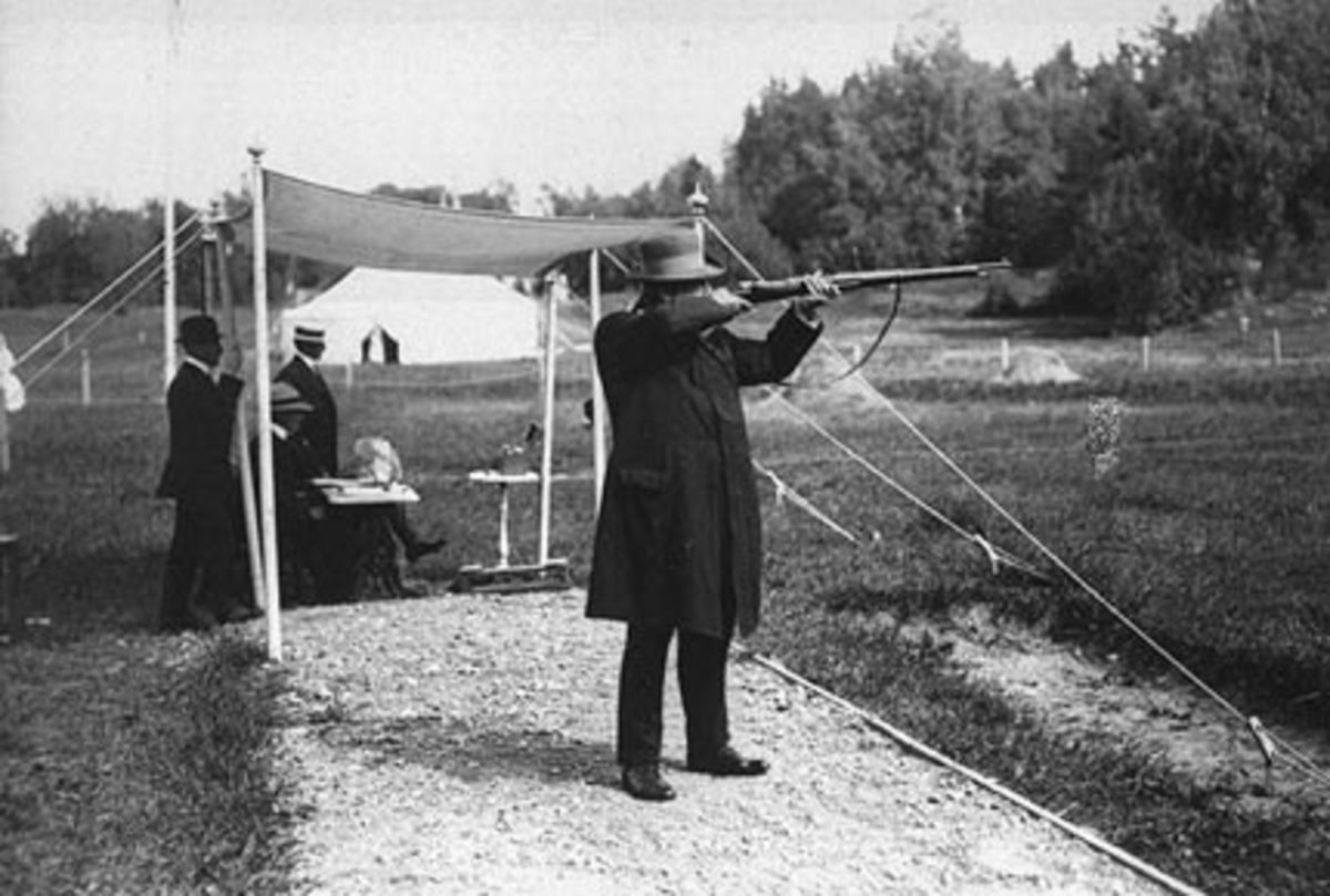 Oscar Swahn at the Olympics in 1912.
