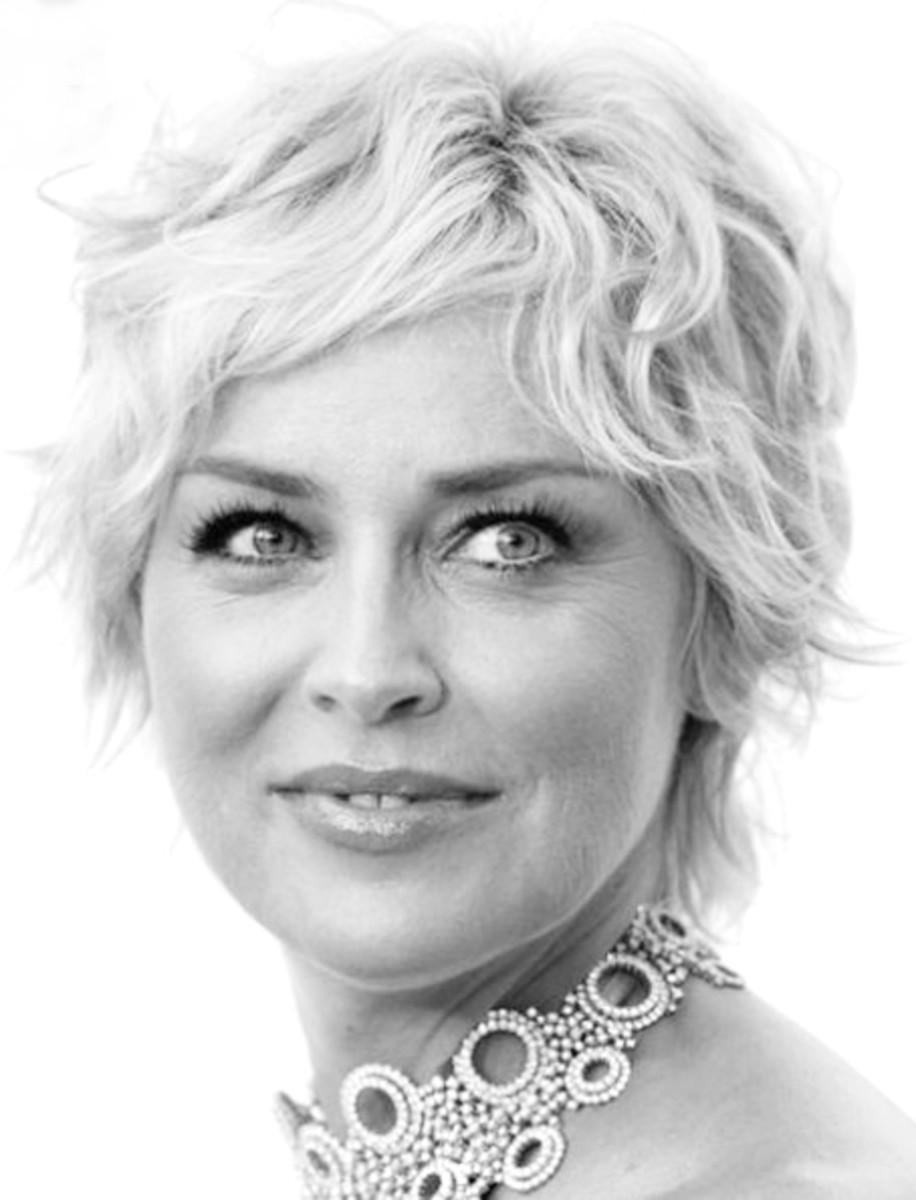 Sharon Stone Short Hair 2013