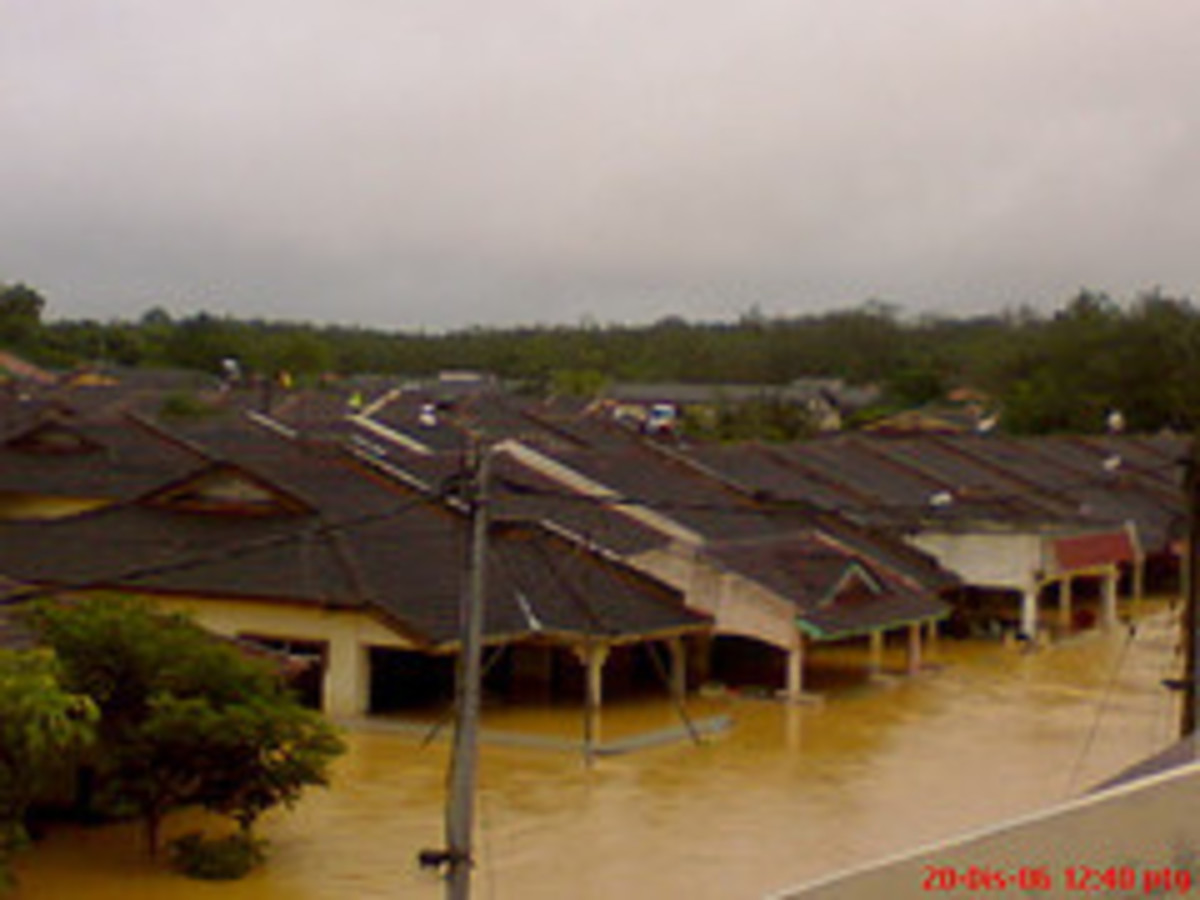 No one knows when flood will happen precisely.