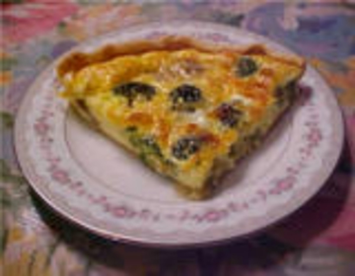 Easy Mushroom and Broccoli Quiche