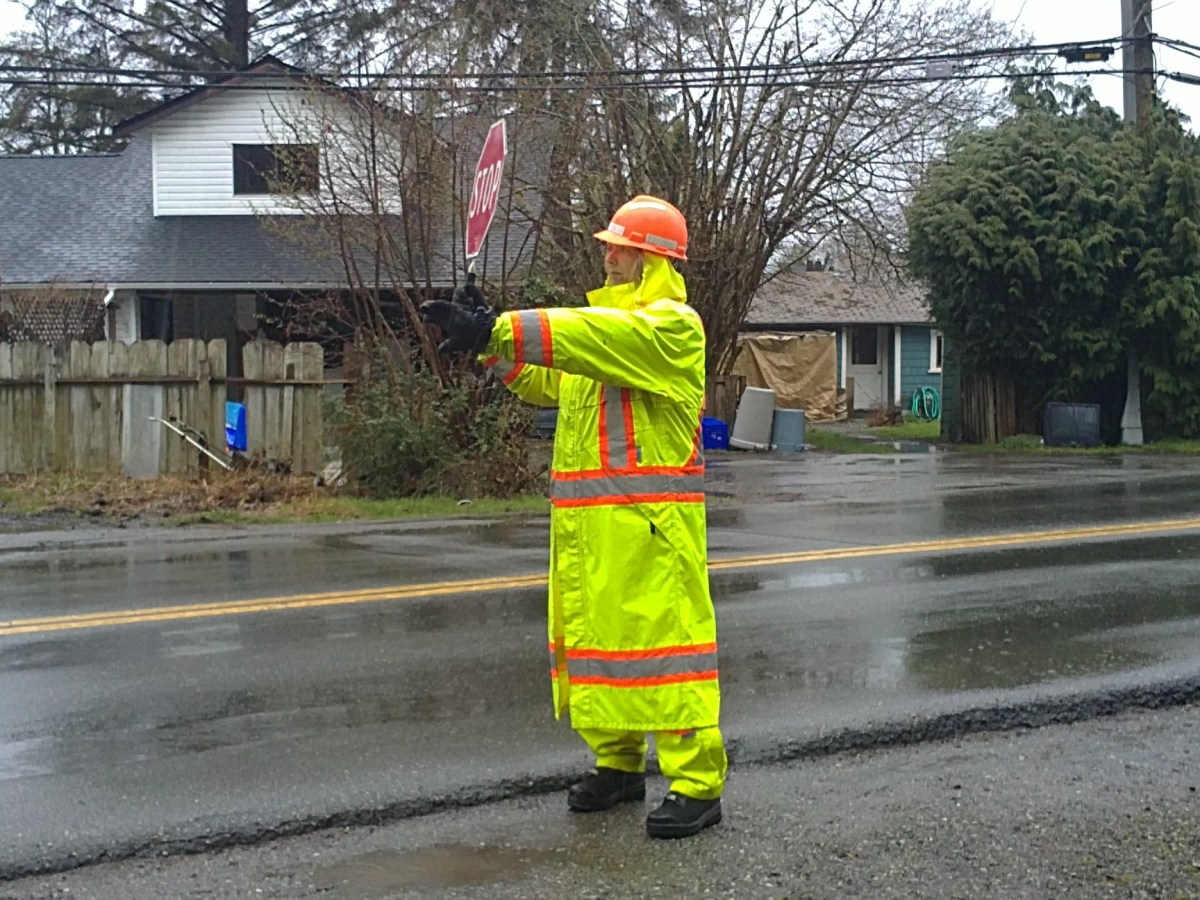this is me directing traffic