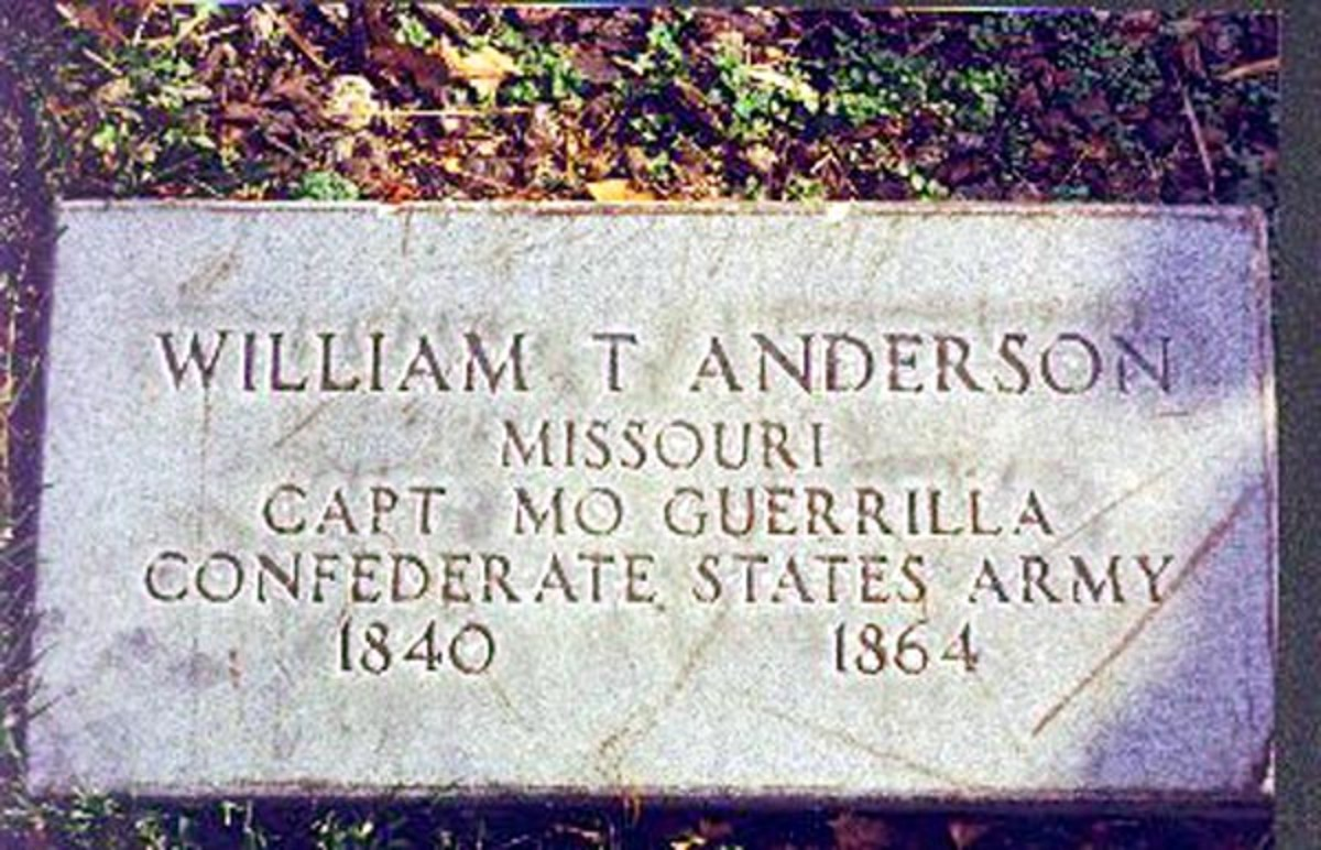 Veterans tombstone put in place in 1968 which incorrectly shows Andersons birthdate as 1840 instead of 1839.