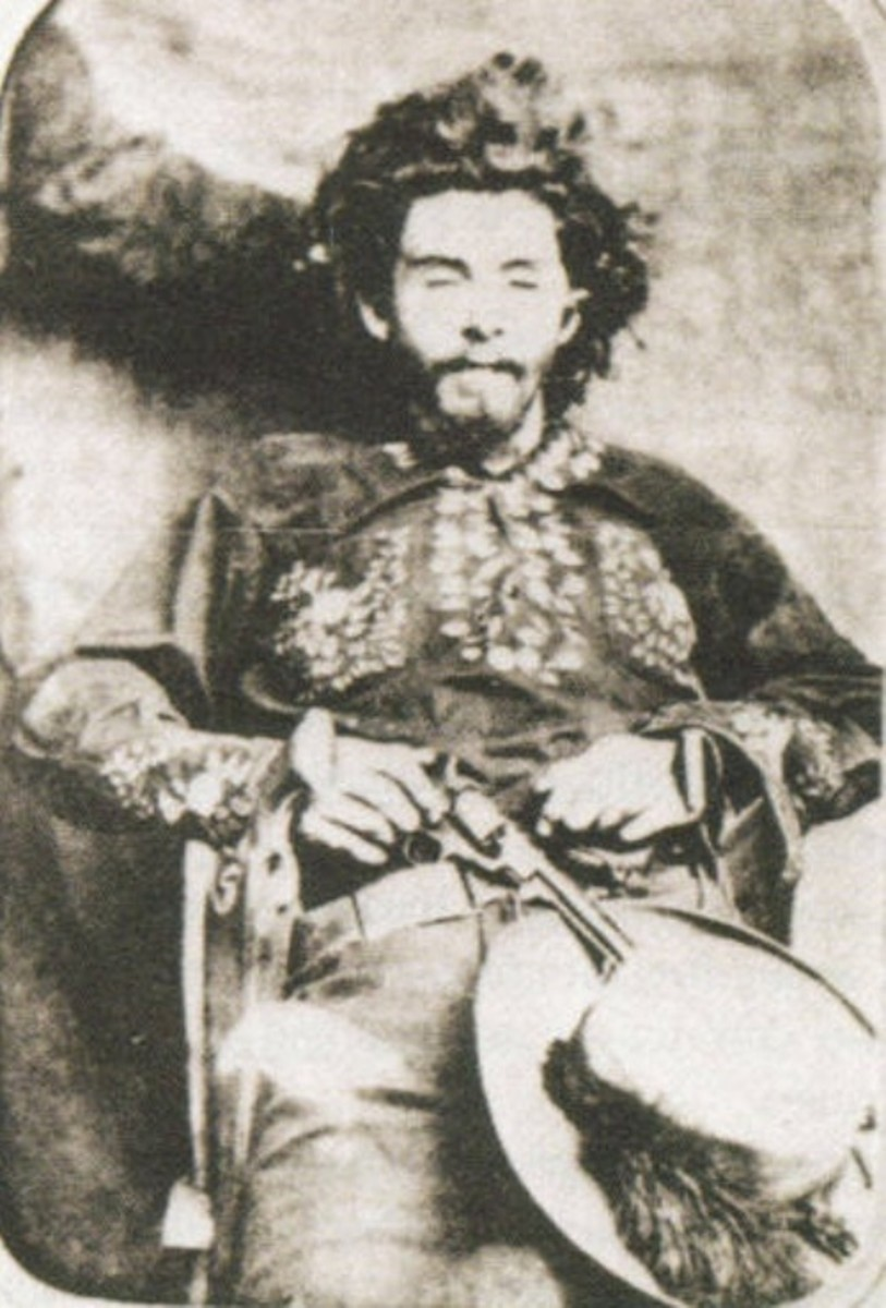Photo taken of Bloody Bill Anderson after his death in 1864 and prior to being decapitated and drug through the streets.